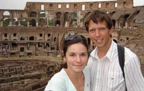 Danelle and Luke at the 'Colosseum'  Rome, Italy