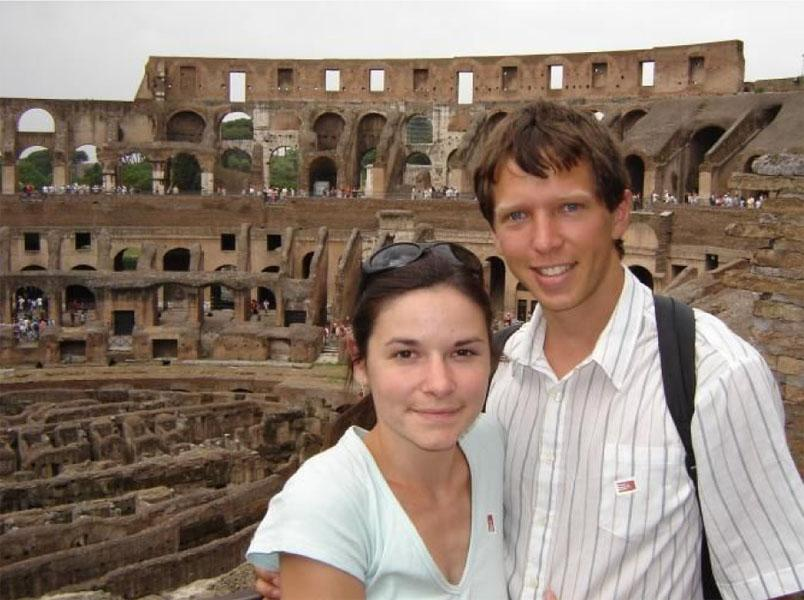 Danelle+and+Luke+at+the+%E2%80%98Colosseum%E2%80%99++Rome%2C+Italy
